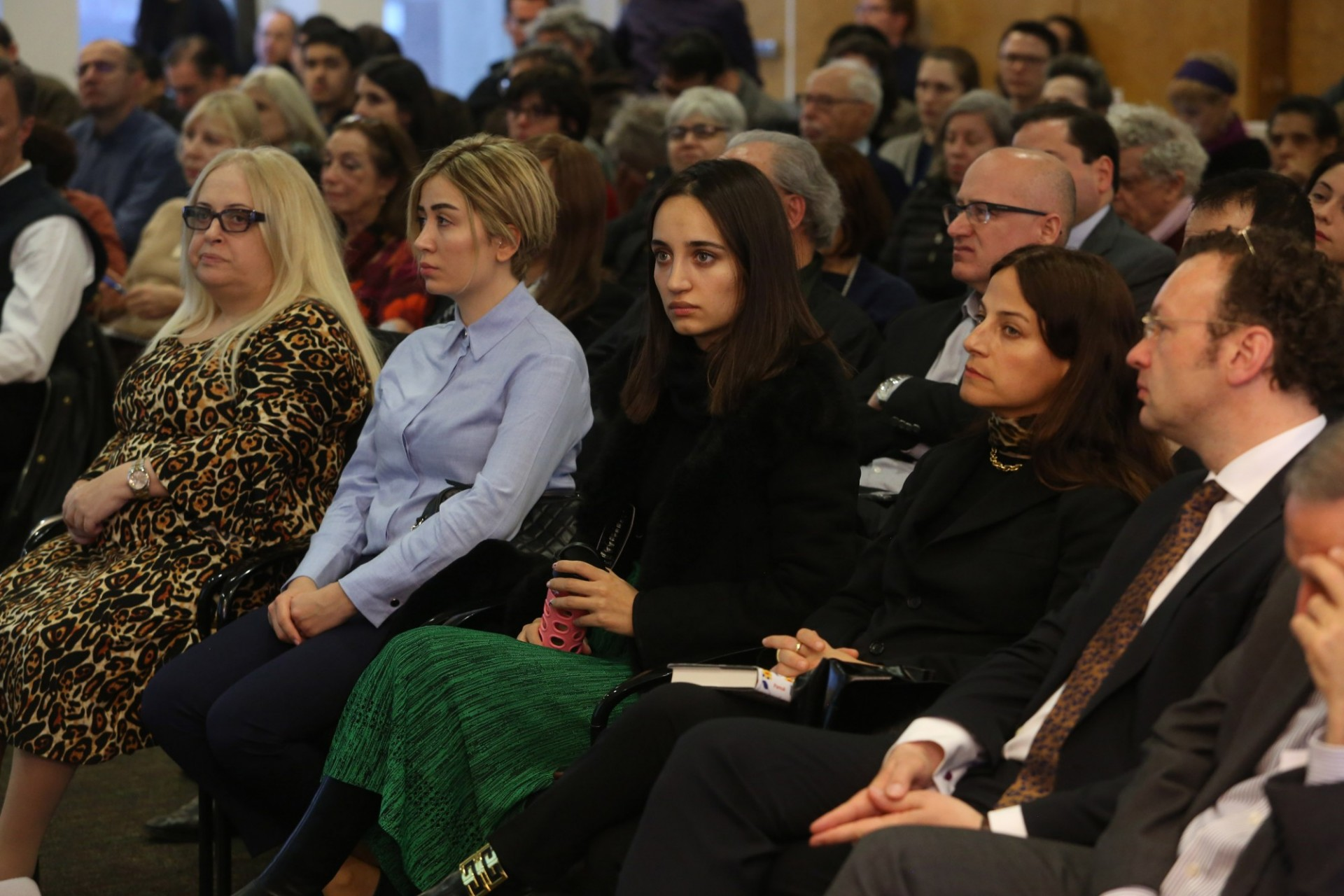Members of the audience at the Inaugural Sakip Sabanci Lecture at Columbia University